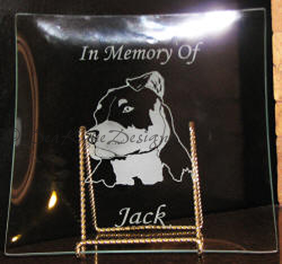 Etched Glass Plate - Amstaff memorial